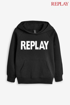 Replay® Kids Black Logo Hoody