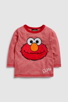 Elmo Long Sleeve Furry T-Shirt (3mths-6yrs)
