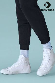 Converse White Leather High Chuck Ox Trainer