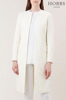 Hobbs White Elva Coat