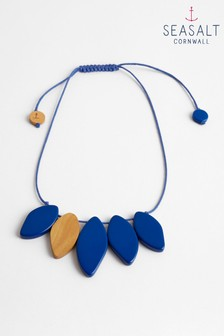 Seasalt Blue Waterfront Paint Splash Necklace