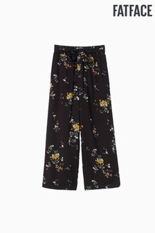 FatFace Black Windswept Posy Crop Trouser