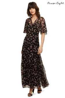 Phase Eight Black Pemberley Tiered Maxi Dress