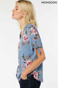 Monsoon Blue Ciara Print Top