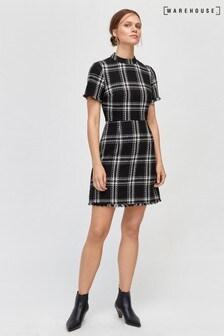 Warehouse Black Check Dress