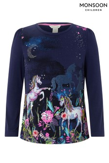 Monsoon Navy Hope Horse Top
