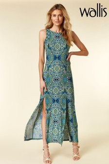Wallis Mosaic Split Front Maxi Dress