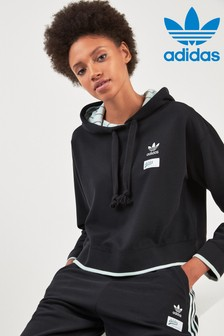 adidas Originals Black Cropped Hoody