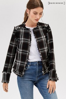 Warehouse Black Check Woven Jacket