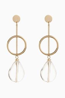 Perspex Effect Stone Drop Earrings