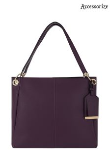 Accessorize Plum Becca Shoulder Bag