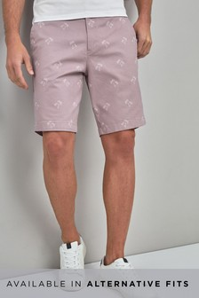Palm Tree Print Chino Shorts
