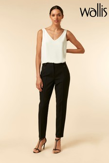 Wallis Black Detailied Tapered Trouser