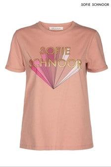 חולצת טי עם לוגו של Sofie Schnoor בוורוד