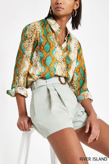 River Island Green Snake Shirt