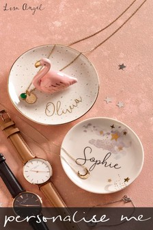 Personalised Flamingo Trinket Dish by Lisa Angel