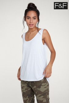 F&F White Mercerised Vest