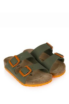 Birkenstock Boys Green Arizona Sandals