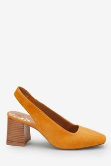 Туфли на квадратном каблуке с открытой пяткой Forever Comfort