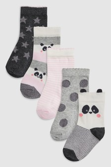 Panda Socks Five Pack (Younger)