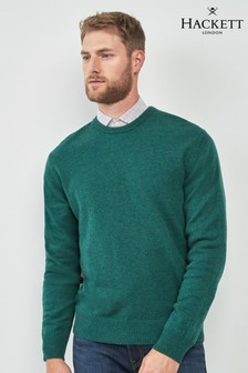 Hackett Green Crew Neck Jumper