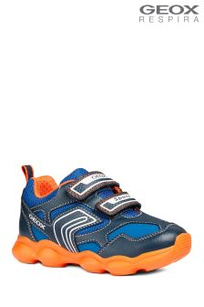 Geox Munfrey Boy Navy/Orange Trainer