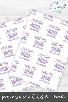 2 Pack Personalised Love You Mum Wrap