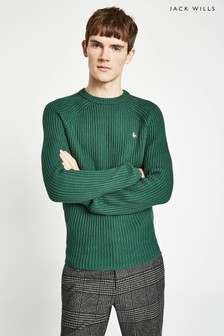 Jack Wills Green Hammond Fisherman Crew