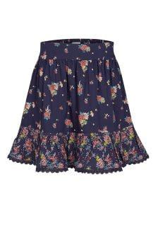 FatFace Navy Flower Print Skirt