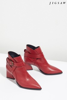Jigsaw Red Ume Triangle Heel Buckle Boot