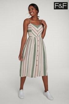F&F Multi Stripe Midi Dress
