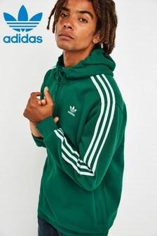adidas Originals Green 3 Stripe 1/2 Zip Hoody