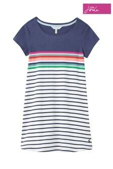 Joules Cream Riviera Short Sleeve Dress