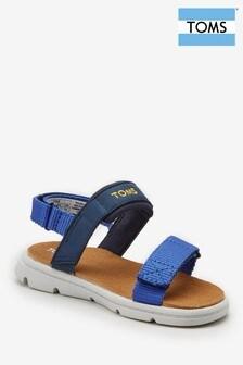 TOMS Sandalen mit doppelten Klettverschluss-Riemen, Marineblau