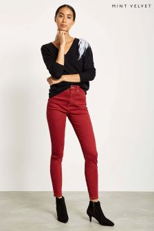 Mint Velvet Red Skinny Jean
