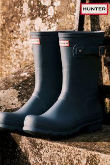 Hunter Navy Original Short Wellington Boots