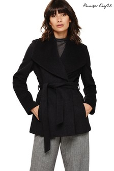 Phase Eight Charcoal Marl Short Nicci Belted Jacket