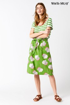 White Stuff Green Sunny Coast Skirt
