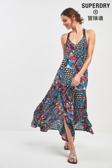 Superdry Multicoloured Macrame Maxi Dress