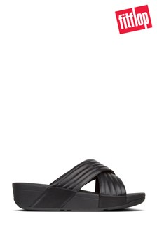 FitFlop™ Black Padded Lulu Slide