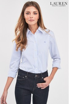 Lauren Ralph Lauren Blue Stripe Shirt