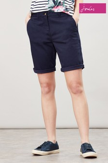 Joules Blue Cruise Longer Length Chino Shorts