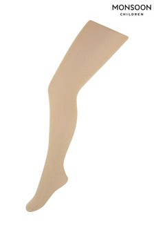 Monsoon Gold Girls Sparkly Nylon Tights