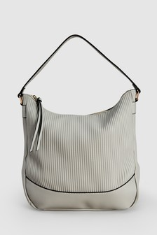Ribbed Hobo Bag