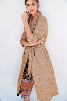 Linen Mix Duster Coat