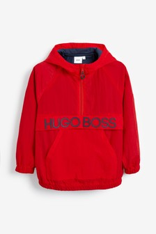BOSS by Hugo Boss Red Logo Hooded Jacket