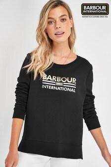 Barbour® International Black Metallic Logo Dual Sweatshirt