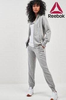 Спортивные флисовые брюки с манжетами Reebok