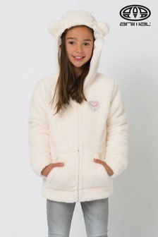 Animal Cream Fuzzy Lounger Fleece With Bear Ears