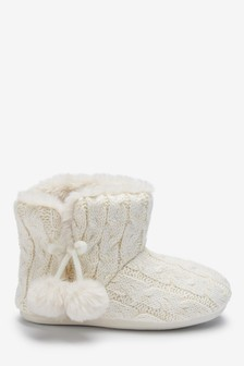 Knitted Slipper Boots (Older)